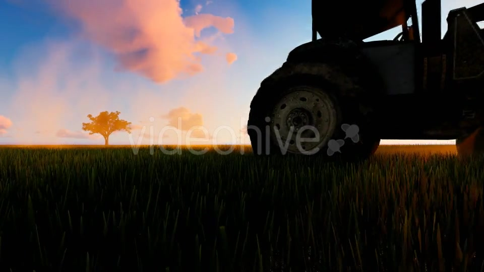 Tractor working in the field sunset Videohive 19761591 Motion Graphics Image 3