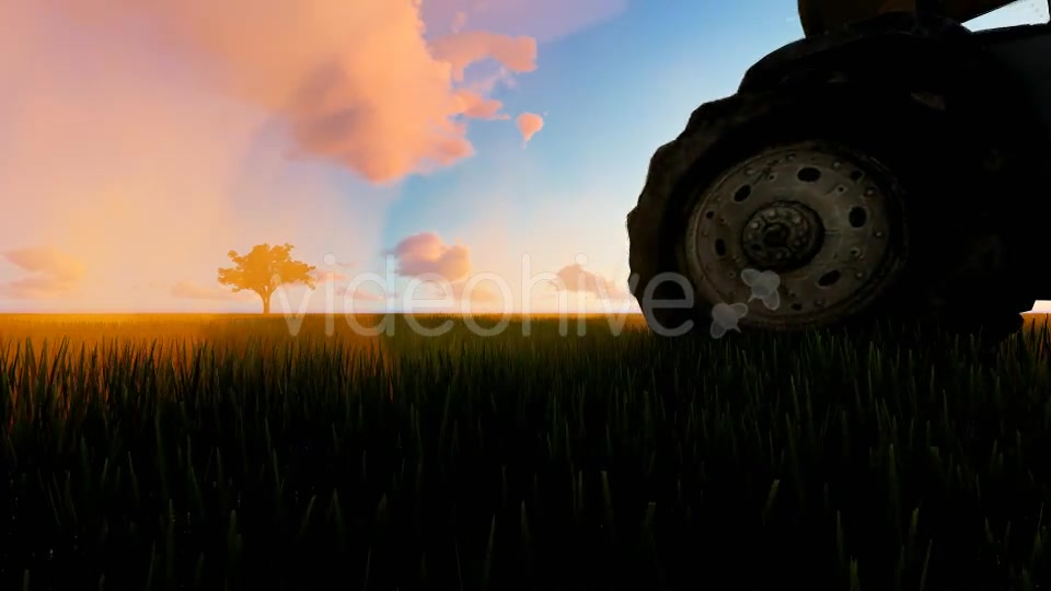 Tractor working in the field sunset Videohive 19761591 Motion Graphics Image 4