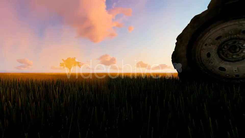 Tractor working in the field sunset Videohive 19761591 Motion Graphics Image 5