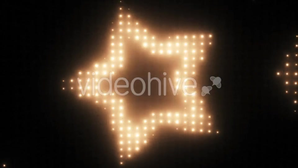 Wall of Lights Star VJ Loop Videohive 19751175 Motion Graphics Image 8